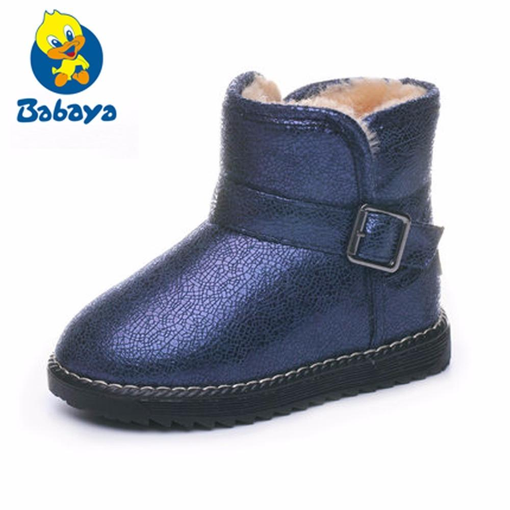 Freezing Cold Winter Children Warm Shoes Sequined Girls Plush Snow Boots  Girls Casual Cotton Padded Kids Martin Boots Boots For Girls Size 5 Girls  Size 6 ... b62f84b258da