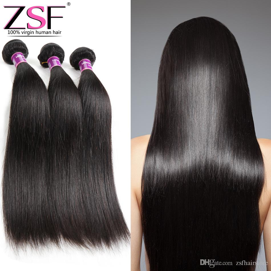 Zsf Hot Selling Mongolian Virgin Hair Extensions High Quality 3