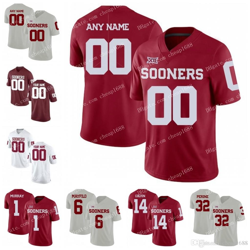 5af68768 Oklahoma Sooners #7 Corey Nelson 10 Austin Kendall 68 Jonathan Alvarez 71  Bobby Evans 2018 Red White Stitched NCAA College Football Jerseys