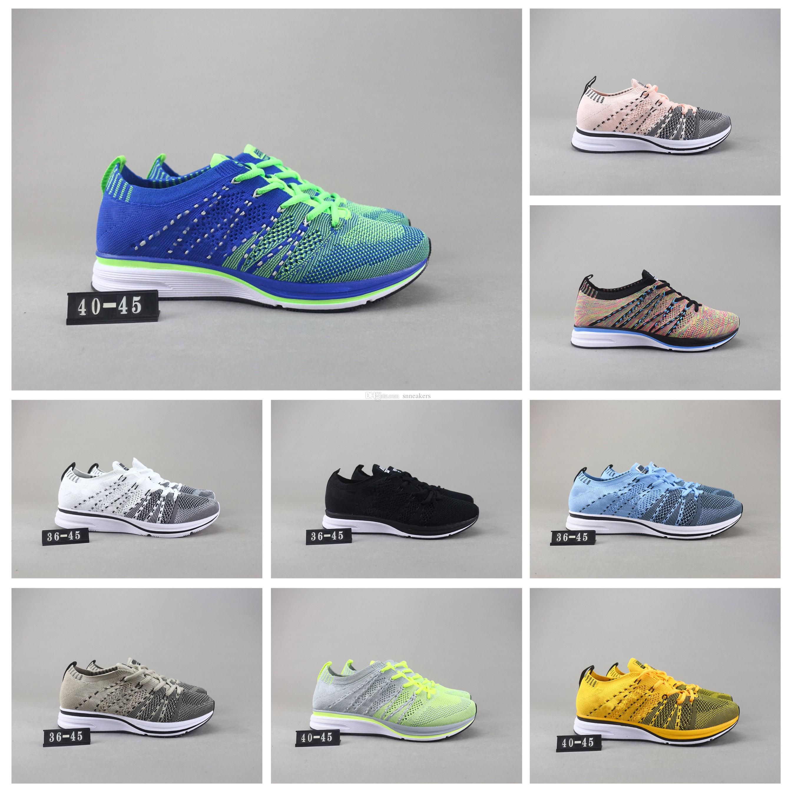 newest f1afd e2c49 Acquista Nike Flyknit Trainer Nuove Scarpe Da Corsa Flywire Knit Racer 2.0  Trainer Sneakers Sportive Womens Mens Shoes BE TRUE Multicolor Oreo Walking  ...
