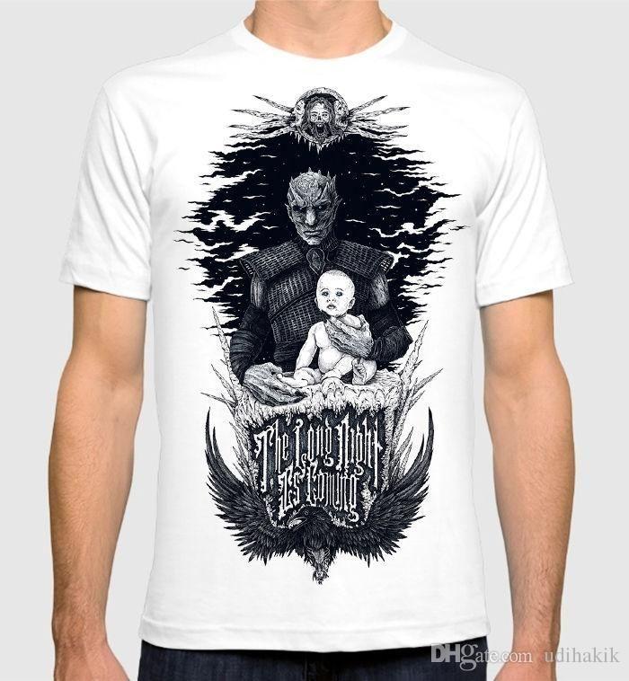 Game Of Thrones Vladimír Furdík On Playing The Night King: Fashion 2018 Summer Night King Game Of Thrones T Shirt