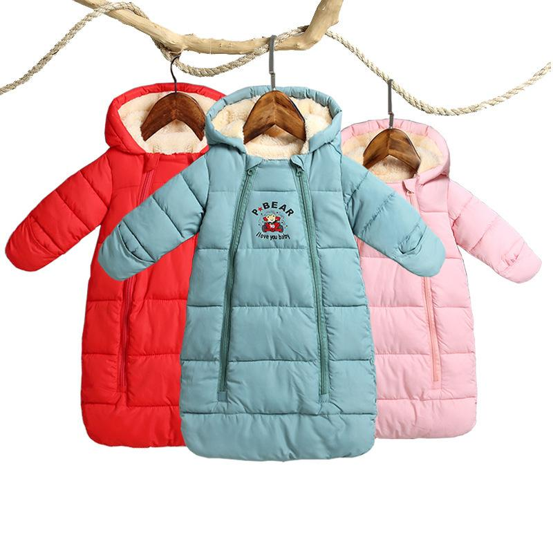 f748f689393 2019 2018 Winter Thicken Baby Rompers Overalls Bodysuit Baby Clothes  Jumpsuit Newborn Girl Boy Down Cotton Snowsuit Infant Snow Wear Y18102208  From Gou08