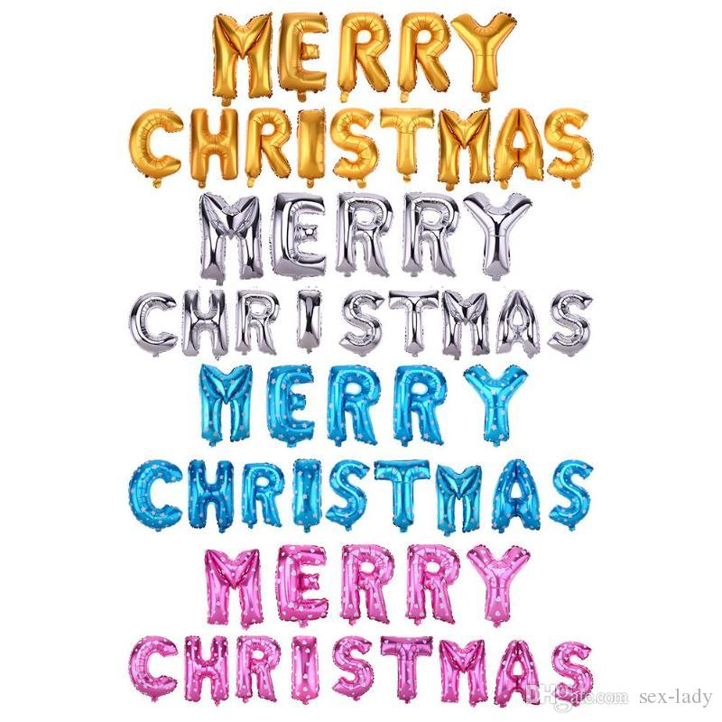 16inch Merry Christmas Aluminium Foil Letters Ballons Happy New Year ...