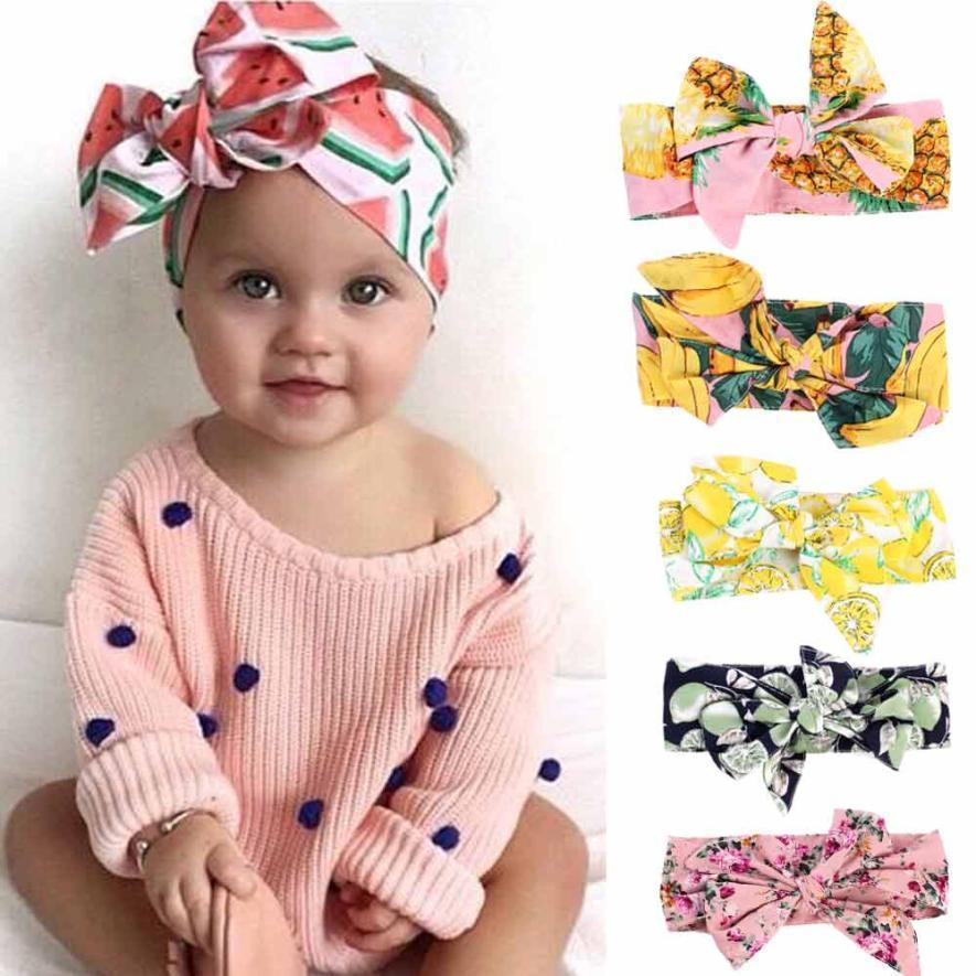 Großhandel Muwgew Baby Mädchen Druck Blume Stirnband Sommer Obst ...