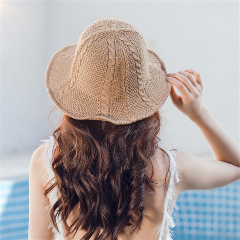 e988f9013c32c Sun Hats Women Summer Cute Panama Caps Beach Hat For Women Girls Chapeau  Femme Handmade Sea Floppy Hat Female AD421 Kids Hats Wide Brim Hat From ...