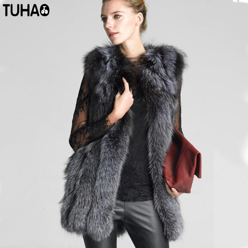 64d8f8dd652ea Women Faux Fur Vest 2018 New Winter Fur Coat Vest Women Warm Plus Size 6XL  Jacket Thicken Vintage Women s Faux Coat JG02 Faux Fur Coat Women Faux Fur  Coat ...