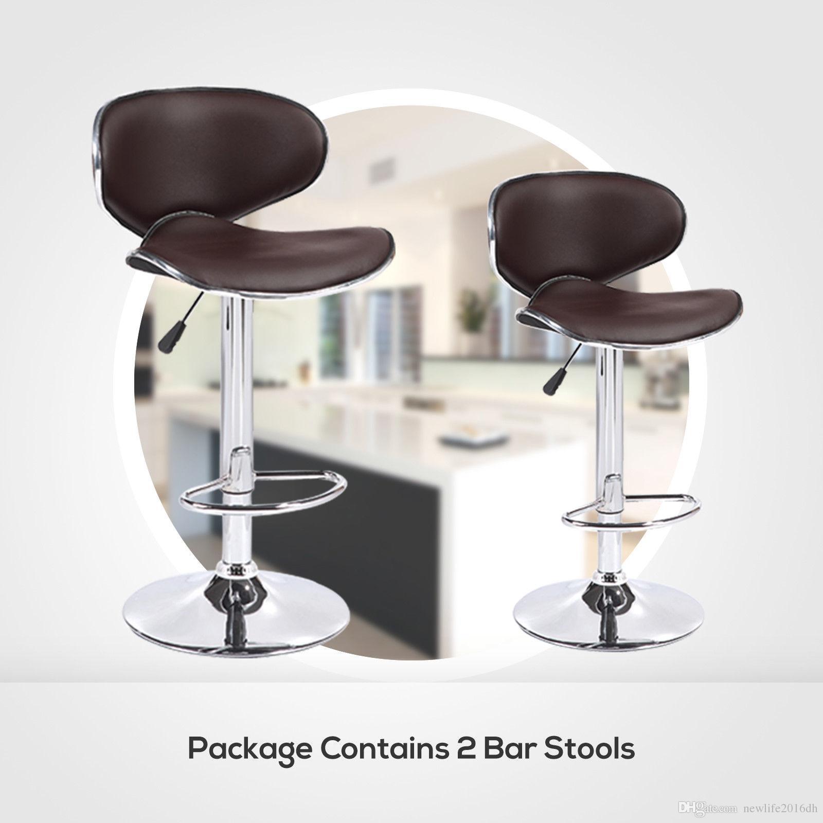 Großhandel Home Furniture Airlift Set 2 Leder Barhocker Braun Von