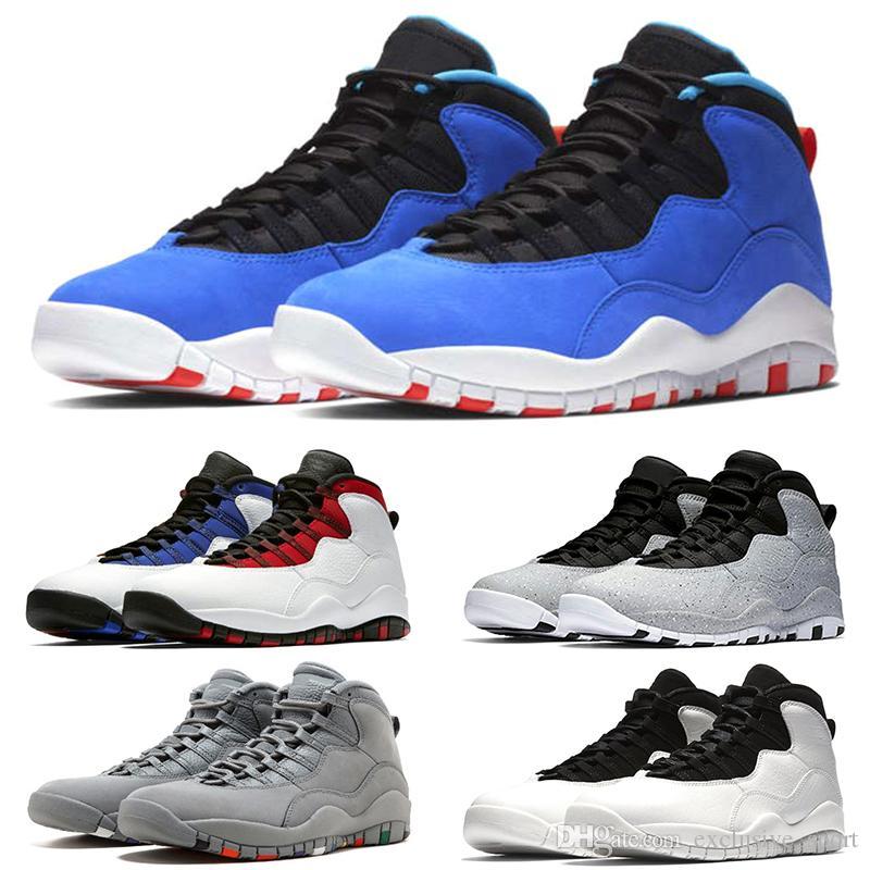 Купить Оптом Nike Air Jordan Retro Дизайнер 10 10s Mens Cement Westbrook PE  Лучшие Тренеры Баскетбольные Ботинки Я Вернулся Черные Белые Синие Красные  ... 9b5cae58e2a