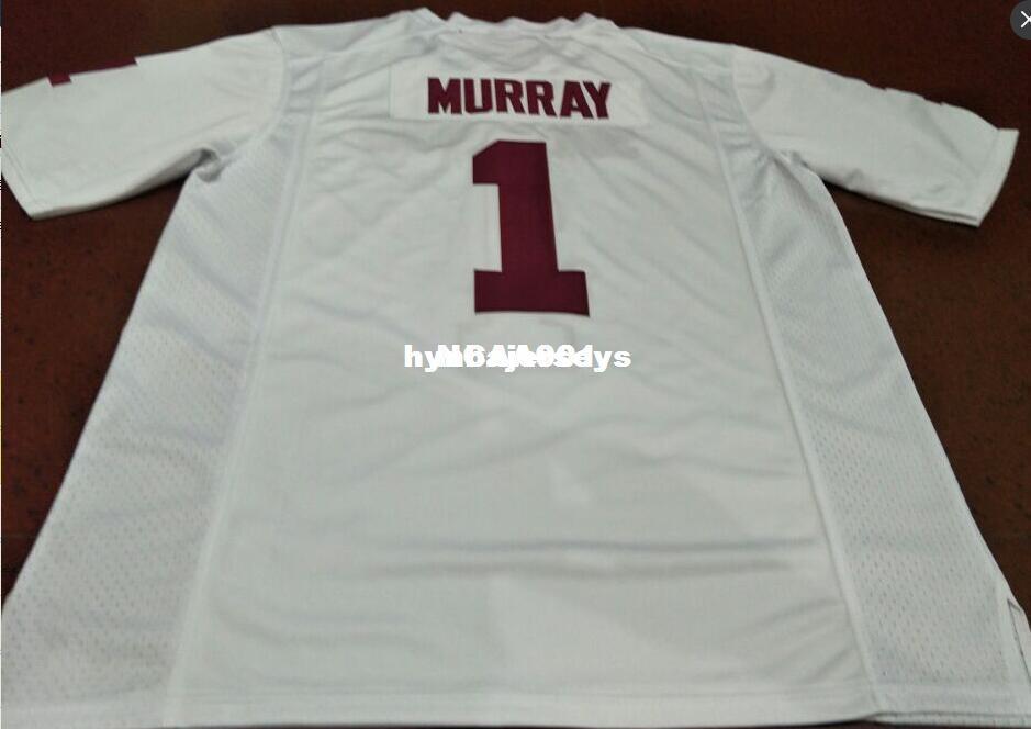 050d6bb68 Cheap Men  1 Kyler Murray Red White Oklahoma Sooners Alumni College ...