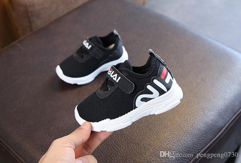 Us Size 6.5 12 Kids Black Shoes New Style Children Sports Shoes Anti Slip  Soft Bottom Baby Shoes Boys And Girls Pure Color Casual Free Shipp Kids  Tennis ... 9c63f392d3b0