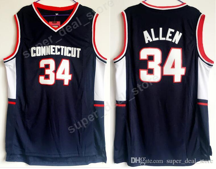 2847bd72f4cf 2019 Men Basketball 34 Ray Allen College Jerseys Uconn Connecticut Huskies  Allen Jersey Navy Blue Color Team All Stitched For Sport Fans From  Vip sport