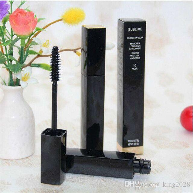 Hot brand, BLACK mascara SUBLIME Beauty Waterproof ED Mascara makeup 6g length and curl long-lasting mascara.