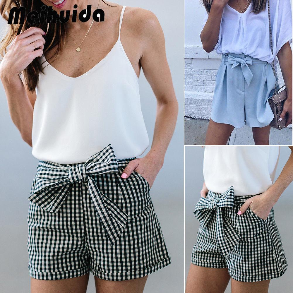 81051d4cc7 Women Hot Summer Casual Loose Shorts Bow Beach High Waist Short Trousers  New Fashion Women Clothes