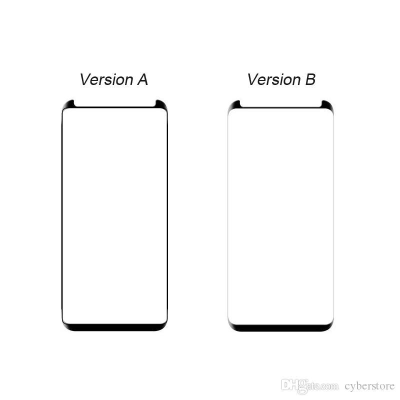 Samsung Galaxy Nota 9 S9 S8 3D Curved Glass Scherm Protector Pellicola Protector Friendly Nota 8 S7 Edge con vendita al dettaglio
