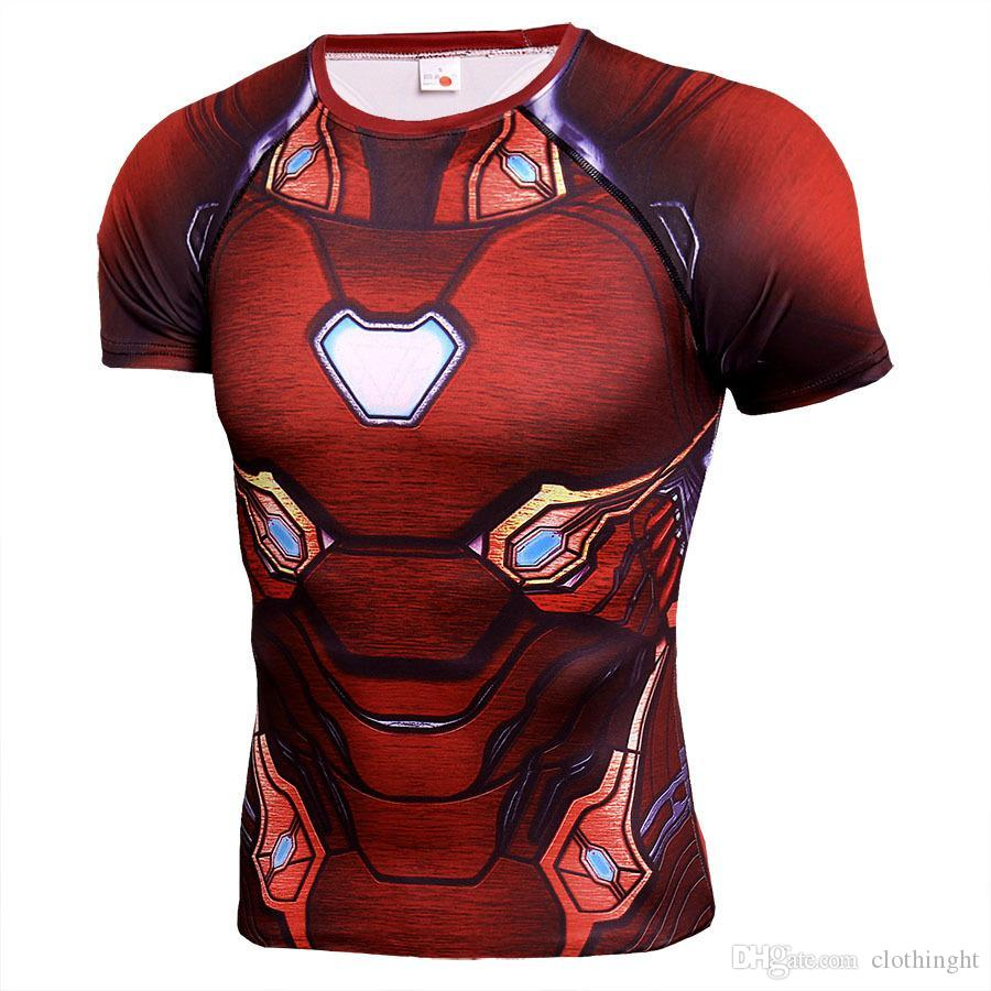 Superman Sport T Shirt Men Black Panther Fitness Tshirt Bodybuilding Gym  Running Shirt Mens Quick Dry Clothing Compression Tight Tshirts Printed  Crazy ... 635b448e2