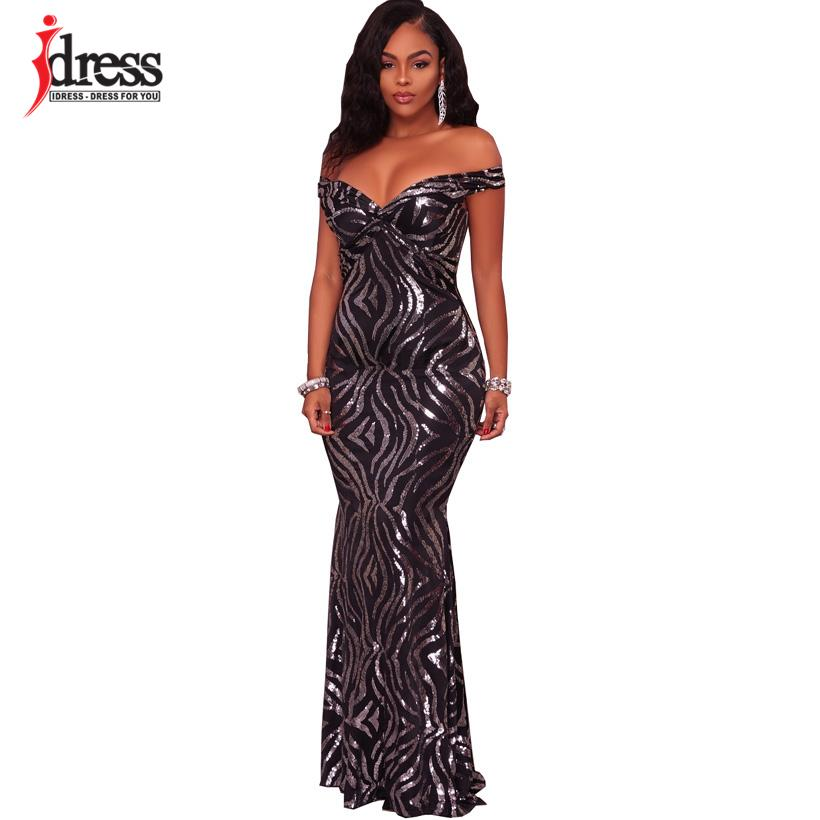 d450a0cf6a IDress 2018 Brand New White Black Strapless Floor Length Longo Festa Luxury  Club Party Dresses One-Piece Sequined Long Dress