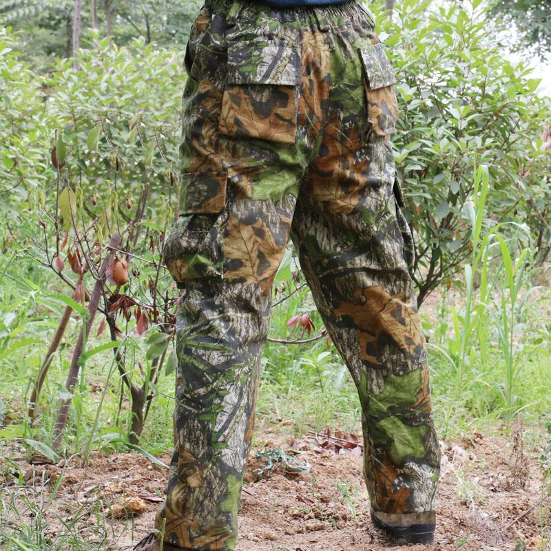 441010e49b231 Men's Outdoor Camouflage Hunting Pants Camo Cargo Hunting Pants Ripstop  Camping Long Trousers Men Plus Size Hiking Trousers