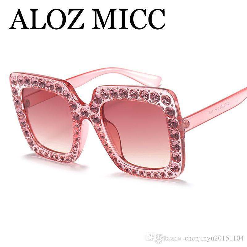 82269a60a3 Luxury Diamond Square Sunglasses Women Brand Designer Fashion Crystal Sun  Glasses Ladies Gradient Mirror Shades Oculos UV400 A511 Designer Glasses ...
