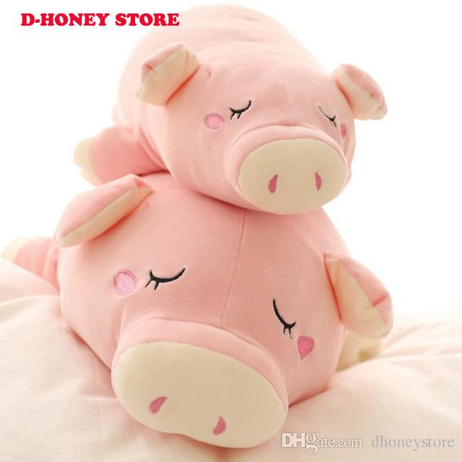 45cm Cute Sleep White Pig Plush Toys Winter Hand Warm Pig Cloth Doll Stuffed Plush Animals Doll Kids Baby Gifts