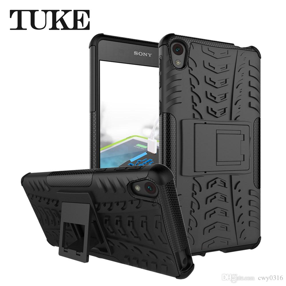 newest 9b5b9 db14c For Sony Xperia E5 Case,Heavy Duty Shockproof Hard Bumper Military Defender  Full Body Dual Layer Rugged Cover for Sony E5