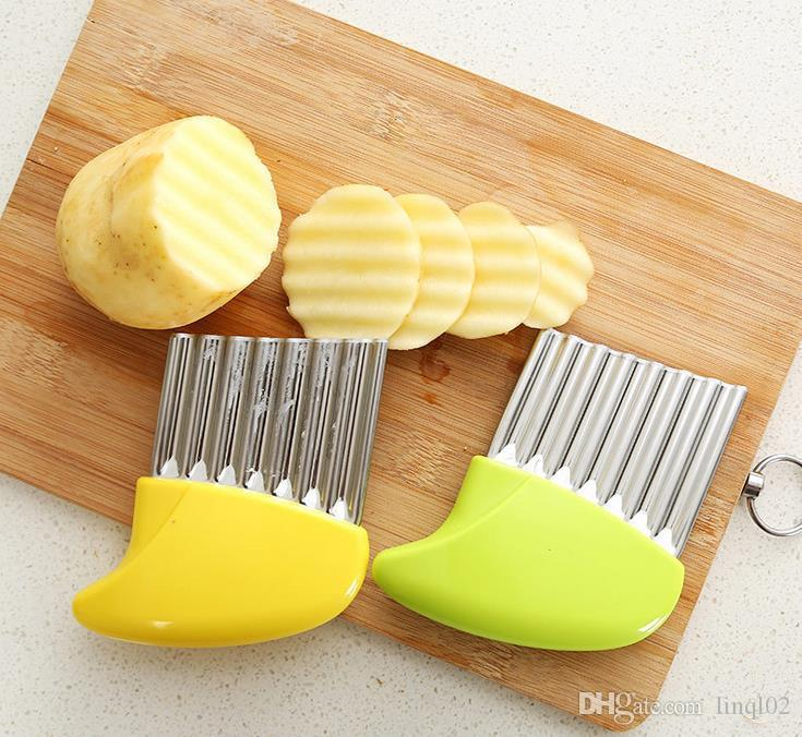Stainless Steel Potato Slicer Wavy Cutter Multi-function Potato knife Cutters Cut French Fries Kitchen Gadgets Vegetable Tools KKA