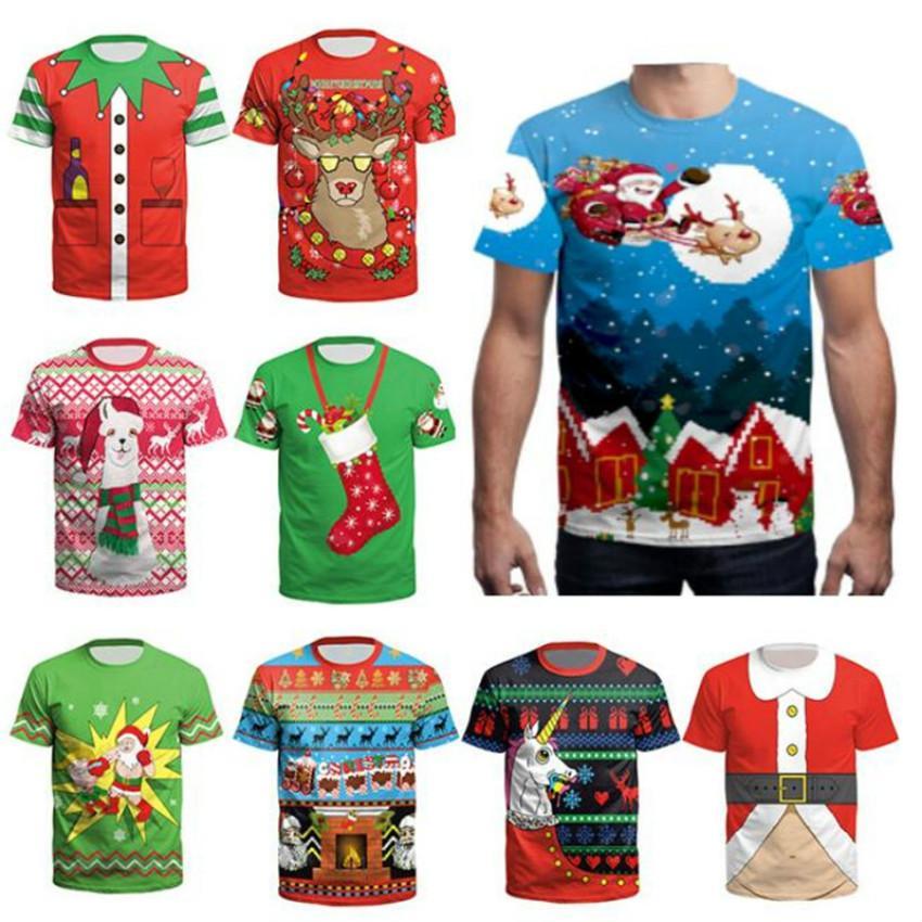 Großhandel S 3xl Unisex Weihnachten T Shirts Für Teenager Jungen ...