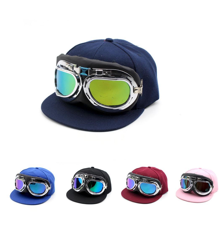 0faa5bdbe96 Kids Snapback Caps Children Pilot Caps Adjustable Girls Boys Outdoor Sports  Caps Fashion Kids Hats Caps Lids From Shunhuico