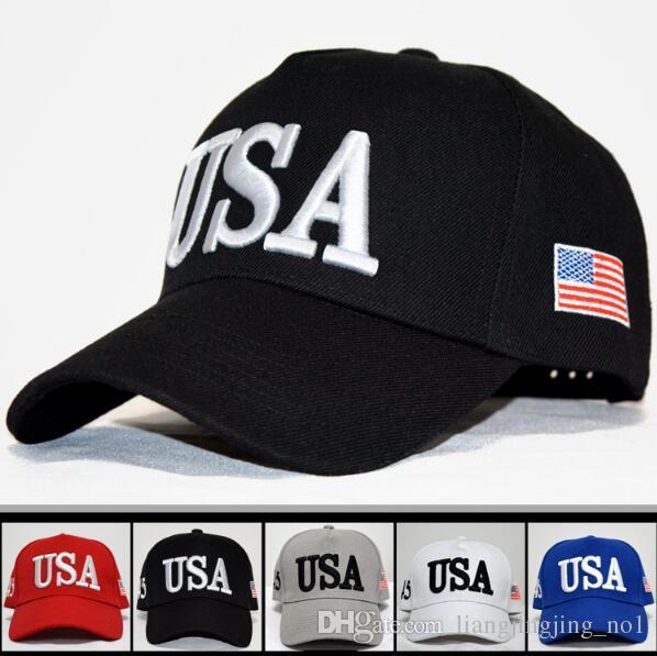 2019 USA Flag Ball Cap Unisex Fashion Adult Adjustable Donald Trump Hat  Snapback Sports Hats Fitted Baseball Caps CCA9120 From Liangjingjing no1 519ed430d534