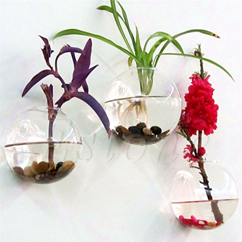 Ootdty Glass Flower Planter Vase Home Garden Ball Decor Wall Hang