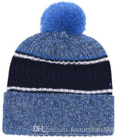 4318e277086 2019 Autumn Winter Hat Sports Hats Custom Knitted Cap With Team Logo  Sideline Cold Weather Knit Hat Soft Warm Titans Beanie Skull Cap Skull Caps  Stocking ...