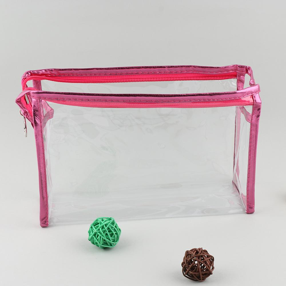 Fashion Women Clear Waterproof Makeup Storage Pounch PVC Transparent Cosmetic Bags Blue/Pink/White/Purple