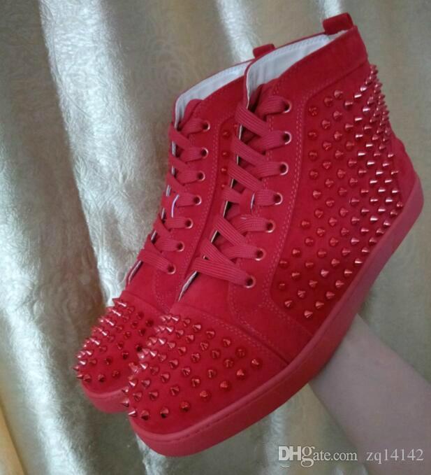fe0c26e3d932 2018 New Original Vogue Men Shoes Red Bottom Sneakers Luxury Party ...