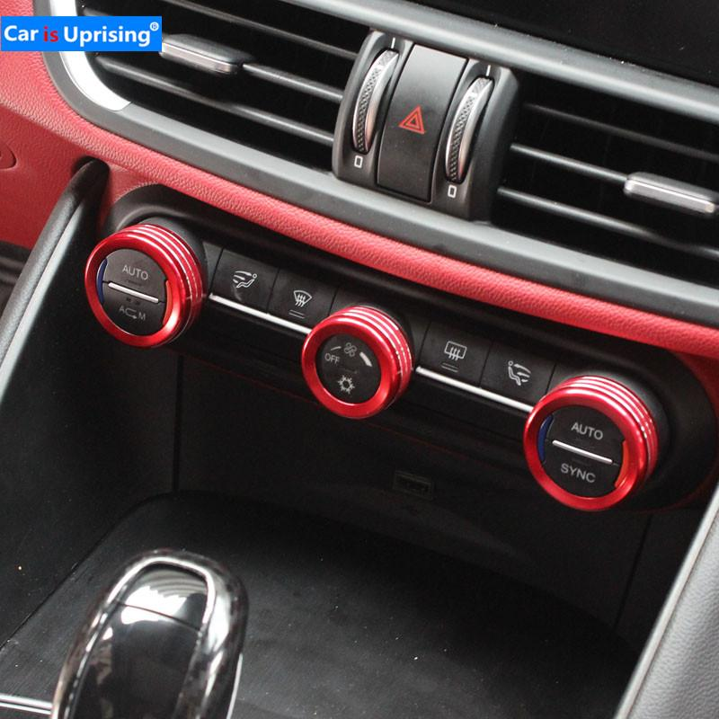 2019 Car Air Conditioning Volume Knob Decoration Sticker Car Styling