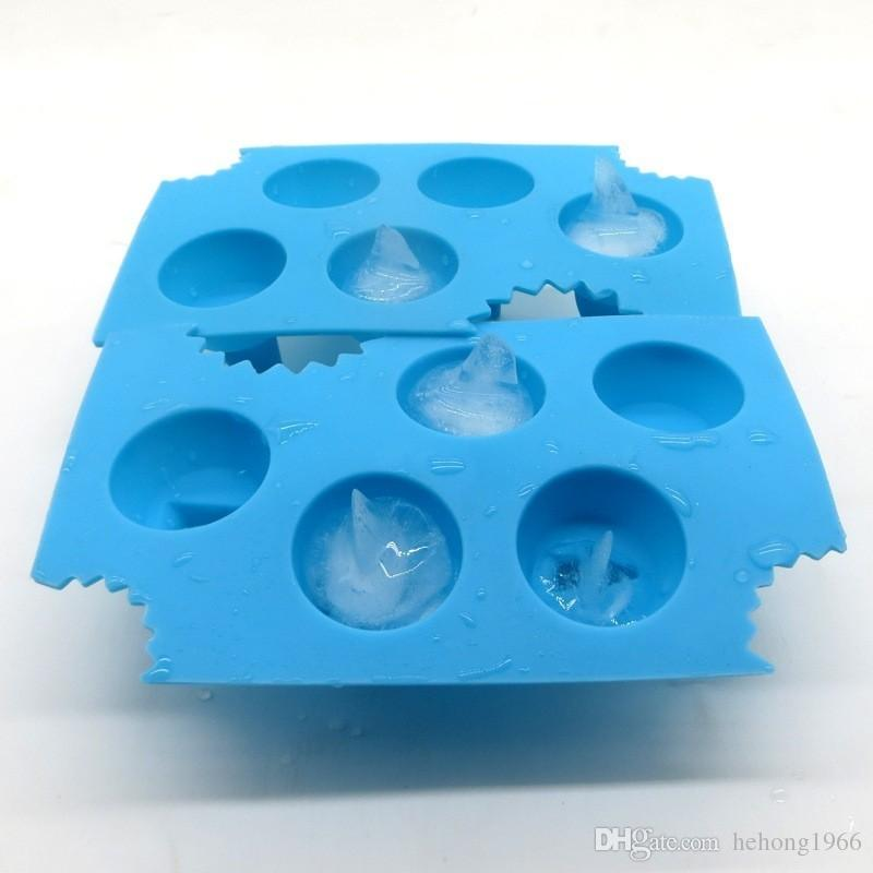 Silica Gel Chocolate Molds Safety Heat Resistant Baking Moulds Shark Fin Shape Silicone Ice Cube Tray Practical 2 7am B