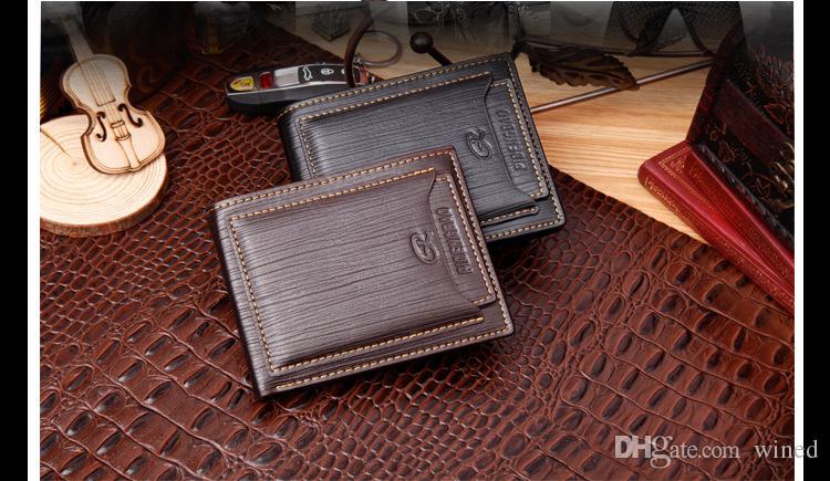 Роскошные мода мужская повседневная кожаный бумажник M B черный короткие кредитной карты держатель кошелек MB карман MT высокое качество ID карты Case