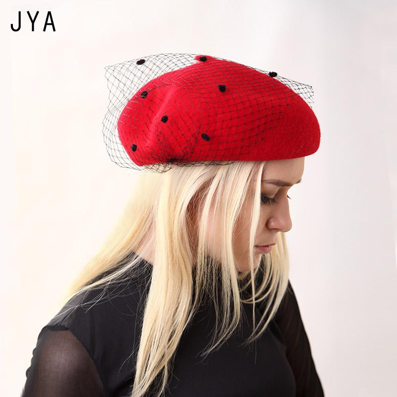 a0024fa5 High Quality Knit 98% Pure Wool Beret for Women Girls Winter Hat ...