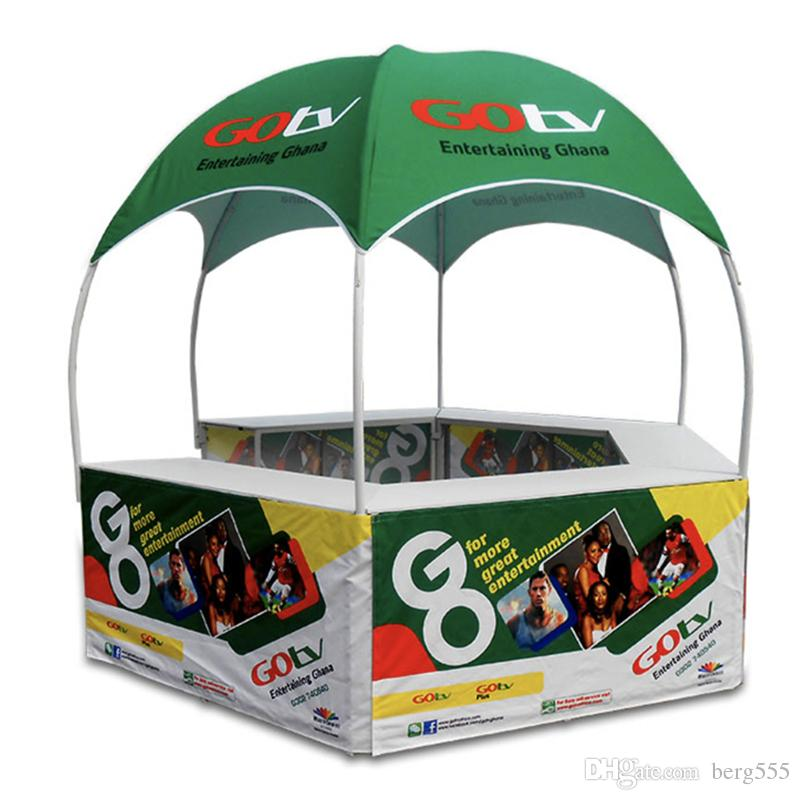10x10ft Advertising Custom Printed Pop Up Tents for Sale with Dye-Sublimation Graphics and Portable Wheeled Carry Bag