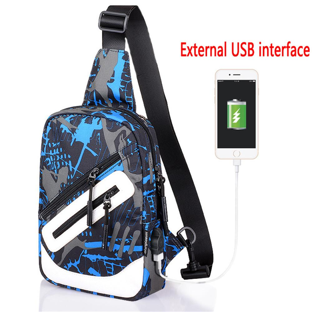 2018 New Arrival Male Shoulder Bags USB Charging Crossbody Bags Men Oxford  Chest Bag School Summer Short Trip Messengers Bag Black Handbags Luxury Bags  From ... 7d1c285fe6e06