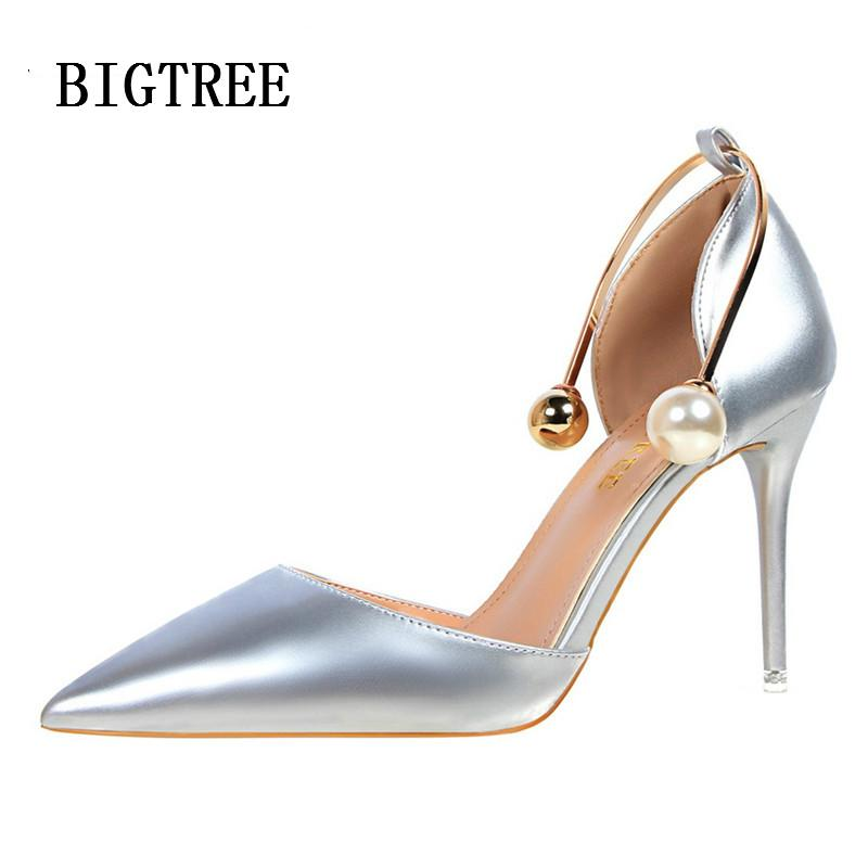 2be2d59da High Heels Women Sandals Designer Bigtree Shoes Patent Leather Pearl Luxury  Brand Wedding Shoes Sexy Pumps Valentine Shoes Woman Online with  $83.97/Pair on ...