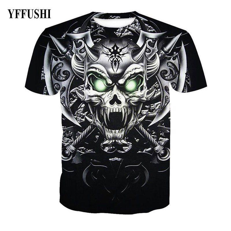 YFFUSHI 2018 Male 3d T Shirt Unique Knife Axe Skull Print T Shirt Fashion  Dragon Skull Print Hip Hop Tees Cool Men Summer Wears Buy Funky T Shirts  Online Ot ... db4f91d0f9f