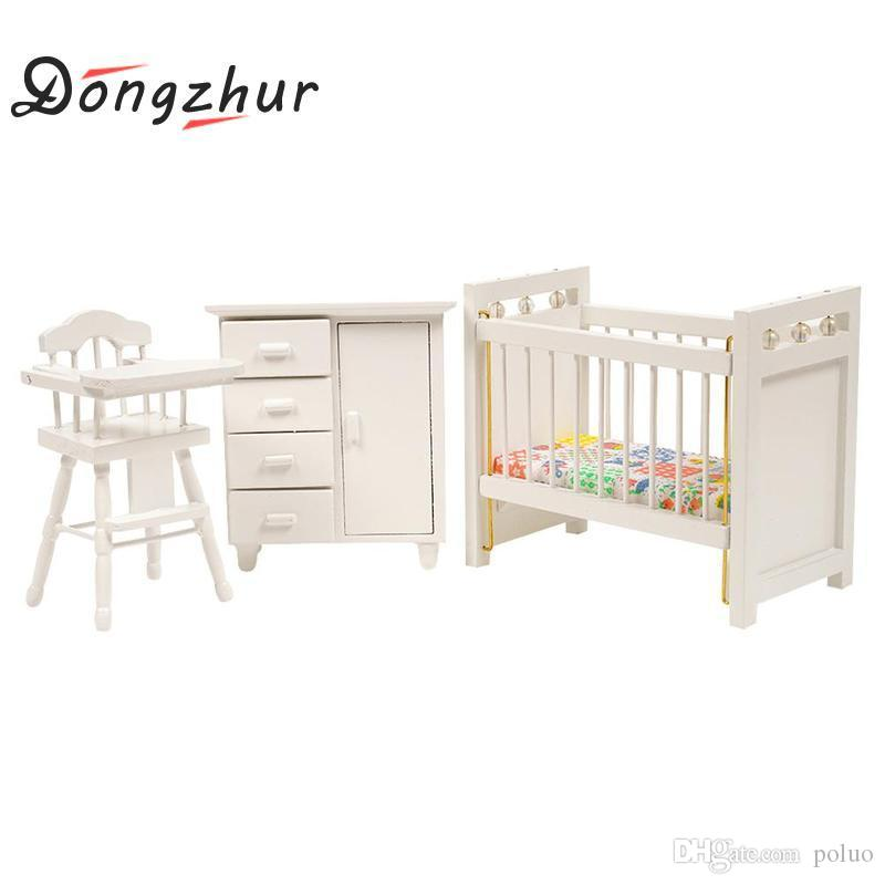 Wholesale Dongzhur Bedroom Furniture Wooden Crib Bed Baby Chair