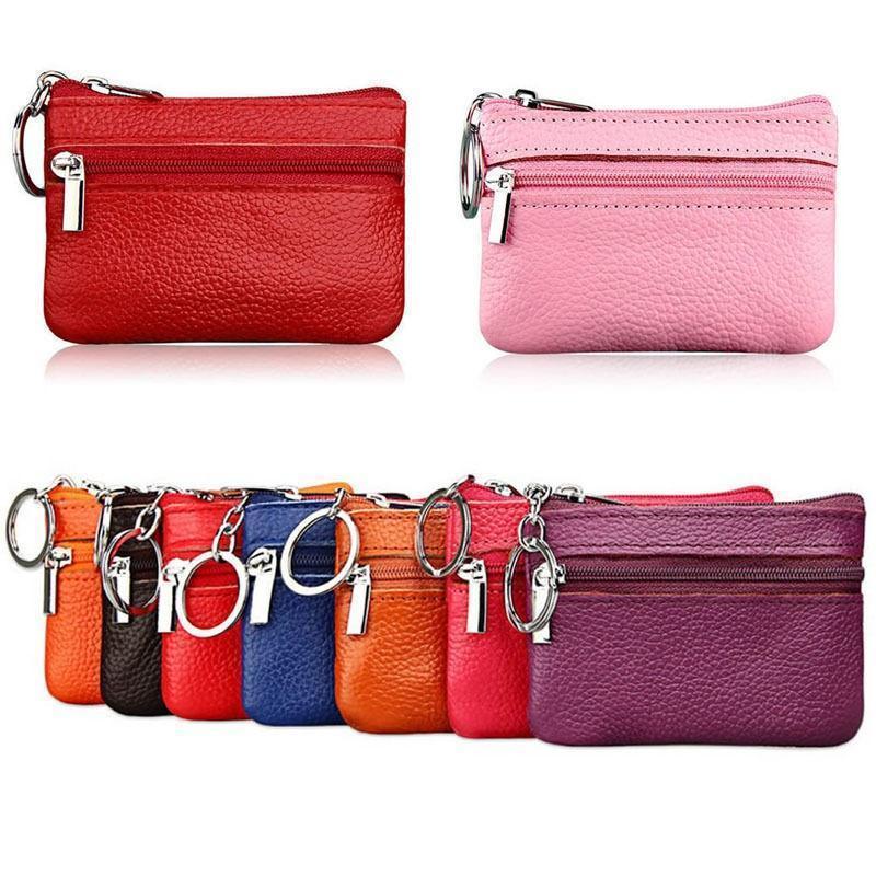 Laamei Men Women Soft Card Coin Key Holder Zip Genuine Leather Wallet Pouch  Bag Purse Designer Purse Backpack Purses From Arrownet 849707bdd7