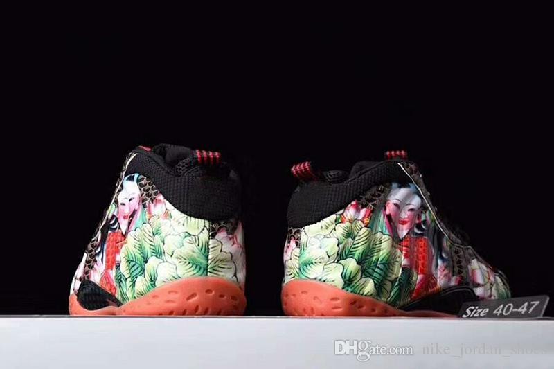 Compre Famoso Penny Hardaway China Tianjin Pescado Cada Ano Parches De Flores De Loto Para Hombre Zapatillas De Deporte Deportivas Espuma Uno Zapatos A 88 79 Del Nike Jordan Shoes Dhgate Com