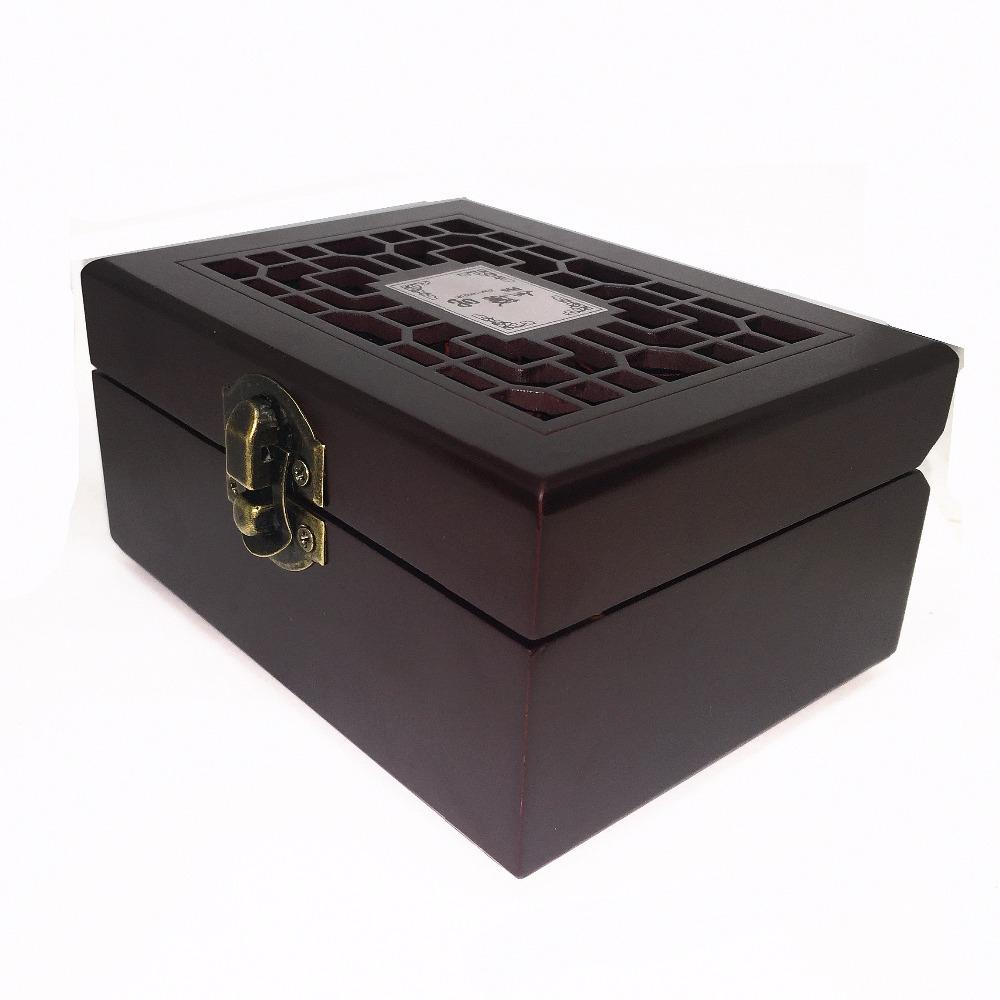 L.TANG Poker Waterproof PVC With Wooden Box Black Plastic Playing Cards Novelty Collection Board Game Chinese Gift L388A