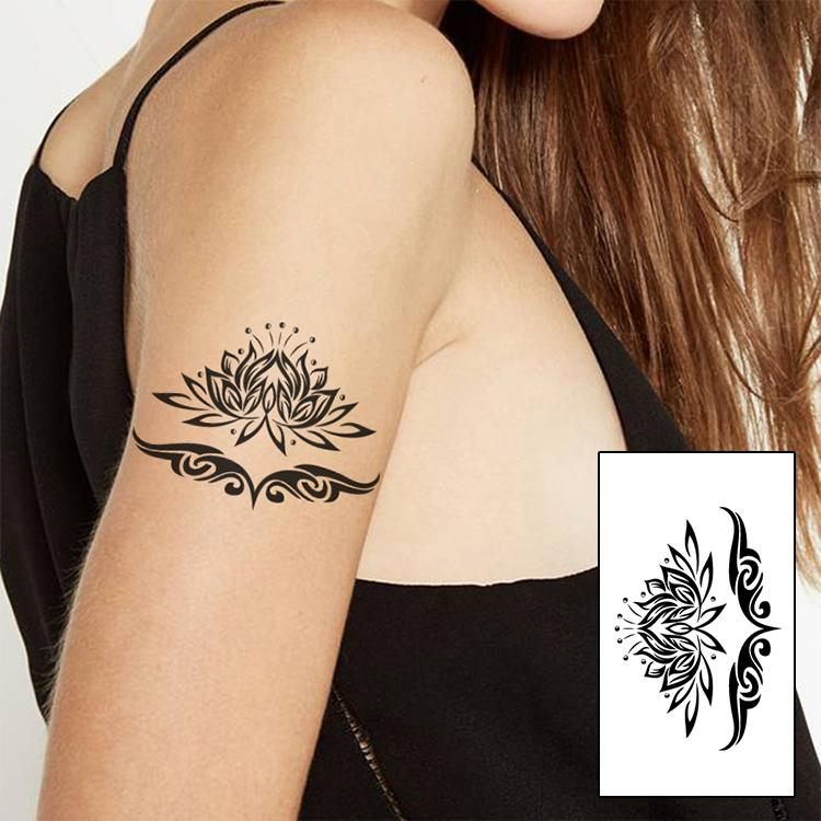 Black Lotus Arm Tattoos Brand New Fashion Waterproof Temporary
