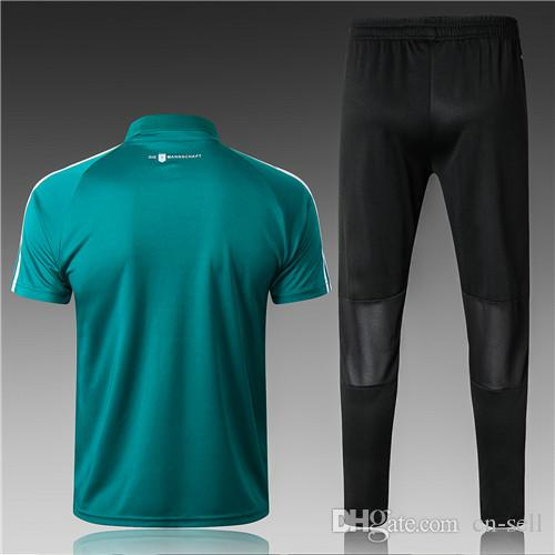 2643383866 Compre 2018 Alemanha POLO Camisas De Futebol De Manga Curta Fato De Treino  18 19 Camisa Treino Sportswear Polo De Futebol De Cn Sell