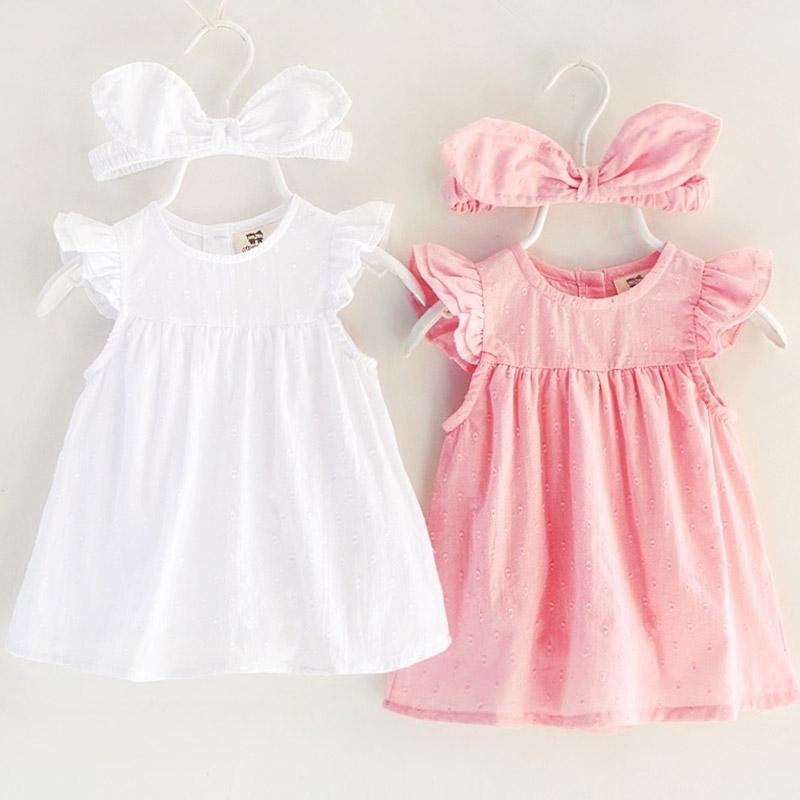 710985029abf7 2018 Sale New Baby Girl Floral Embroidery Dress Small Princess Summer  Clothes Real 0-1 Year Old 3-6 Months Cotton Free Shipping
