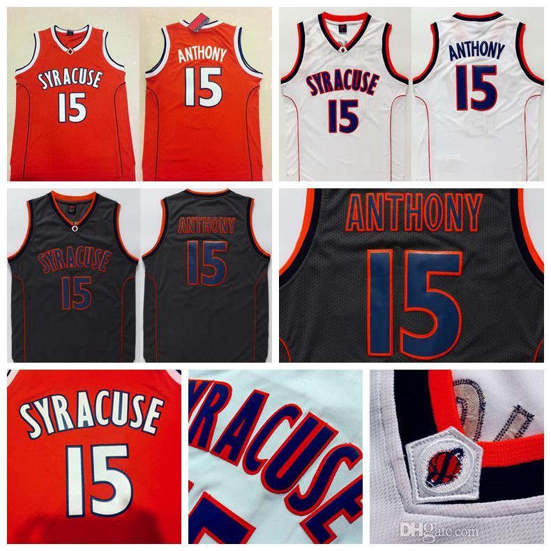 b3cde6957 ... amazon mens syracuse college ncaa 15 carmelo anthony jersey orange  black white carmelo anthony stitched basketball