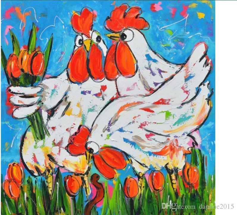 Satın Al Tavuk Elmas Boyama Kitleri Tam Matkap Kuş Mozaik Duvar