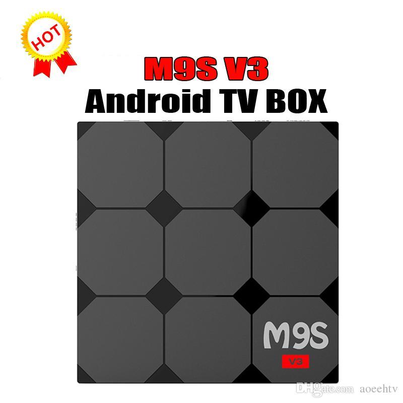 2018 Rockchip RK3229 M9S V3 4K Android TV Box Quad Core-4K Streaming Media  Player WiFi Smart tv box Better T95X T95N T95K X96